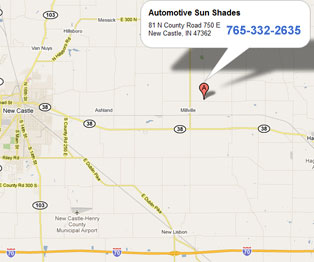 map of automotive sun shades